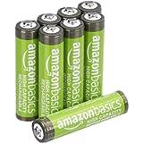 Amazon Basics - Batterie AAA ricaricabili, ad alta capacità, pre-caricate, confezione da 8 (l'aspetto potrebbe variare…