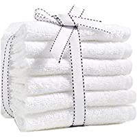 Fresh from Loom Towel for face 6 Piece 450 GSM Cotton Face Towel Set - White, Size - 12x12 inch, Rumal