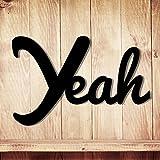 Holzschriftzug mit Spruch YEAH Dekoration Wohnzimmer Deko Schriftzug Holz M1328 ilka parey wandtattoo-welt® - ausgewählte Farbe: *kirschrot* ausgewählte Größe: *L - 40cm breit x 26cm hoch*