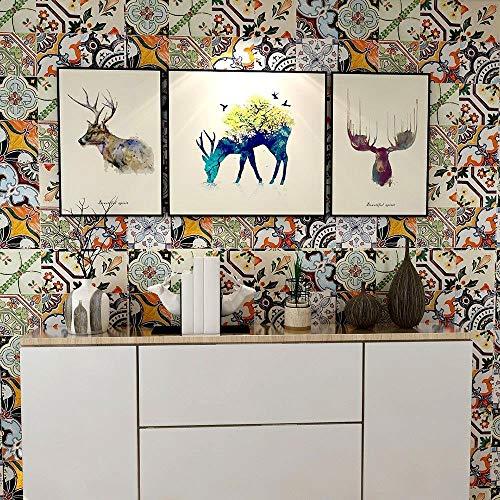 3D nachgemachte Fliesenaufkleber Jane Kontinentaleuropa DIY dekorative Mosaikboden * freie Tapetenkleister 20 * 100 cm 2