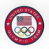 Vereinigten Staaten Olympisches Team Patch (9cm) Aufbügeln oder nähen auf Badge Aufnäher Souvenir DIY Kostüm USA Olympischen Ringe Logo