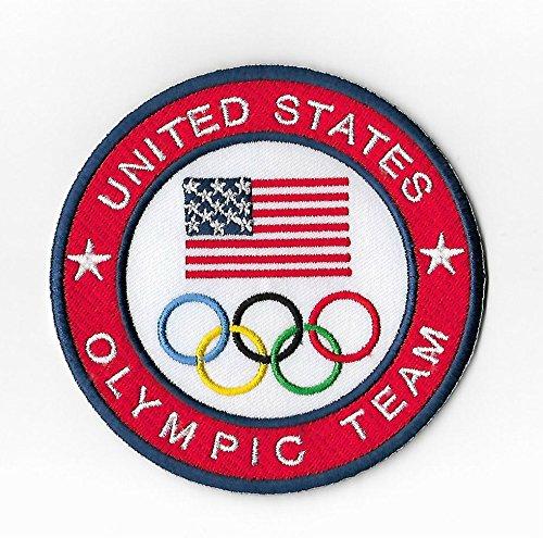 Olympischen Kostüm - Vereinigten Staaten Olympisches Team Patch (9cm) Aufbügeln oder nähen auf Badge Aufnäher Souvenir DIY Kostüm USA Olympischen Ringe Logo