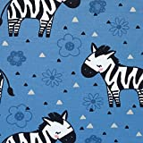 Jersey Jeans bedruckt Zebra Blume (Breite 1,50 Meter) - in