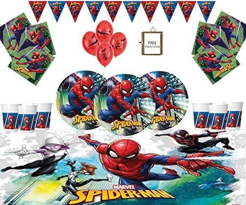 Marvel Spiderman Artículos para Fiestas Kids Birthday Tableware Decoraciones de Spiderman para...