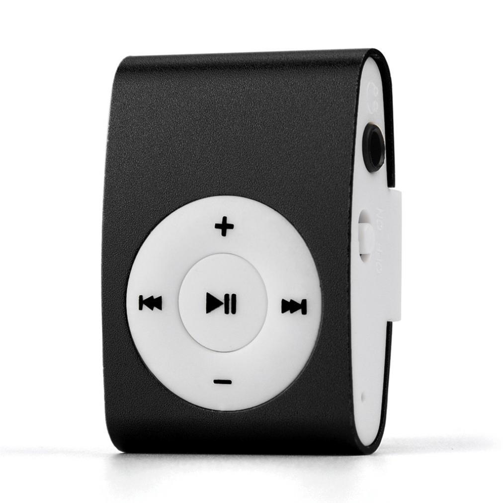 Taottao mini clip USB MP3player Support 32GB Micor SD lettore di schede TF Music media, Black