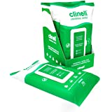 Clinell Universal Cleaning and Disinfecting Wipes for Home - 4 Packs of 70 XL Antimicrobial Wipes with Lock Lid - Kills 99.99