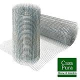 Rete recinzione in ferro casa pura® | Metallica per giardino | Zincata | 12,7 mm | 50cmx10m