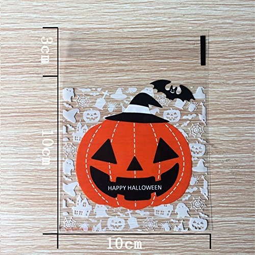 Cookie Candy Bag Food Grade OPP selbstklebend Verpackung Staubsaugerbeutel Weihnachten Weihnachten Wedding Favors Gift 1 (Kontaktieren Halloween Linsen)