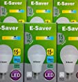 Pack of 3/5/6/10 Daylight E-Saver 15w, 20w, 24w, Daylight, LED/ CFL, Full Spiral, Bayonet Cap (BC, B22) 440 Lumen, T2, 80%-85% Energy Saving Light Bulb, Flicker Free, 10,000 Hours Life Time… by E-Saver