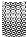 Fleur De Lis Decor Tischdecke Silhouette Muster von Fleur de Lis Fancy Classics Mittelalter Stil Design Art Esszimmer Küche Abdeckung Tisch, rechteckig, Satin, Multy, 52 INCHES WIDE x 104 INCHES HEIGHT