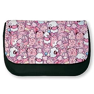 Escolar Negro de maquillaje o de Pokemon rosa Chibi y Kawaii–Chamalow Shop