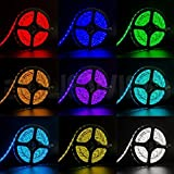 SMD 5050 RGB LED Strip Light, 5 Amps DC Adapter, WaterProof, 44 Key Remote (5 M)