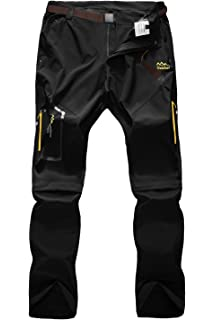 Mr.Stream Mens 2in1 Walking Quick Drying Elasticated Outdoor Convertible Zip Off Hiking Climbing Camping Leisure Trousers