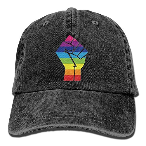 LGBT Pride Rainbow Flag Fist Unisex Cowboy Cap Design for Man and Woman