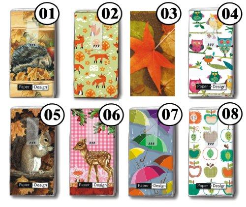 2x 10 Taschentücher Herbst Motiv Auswahl möglich Colourful owls - Farbenfrohe Eulen (Taschentuch-kollektion)