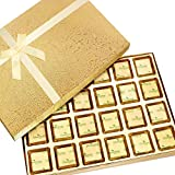 Ghasitaram Gifts Sugar Free Chocolates Golden 24 Pcs Assorted Sugarfree Chocolates Box