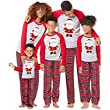 Conjunto de Pijamas Familiares de Navidad, Trajes Navideños para Mujeres Hombres Niño, Ropa Invierno Sudadera Chándal Suéter