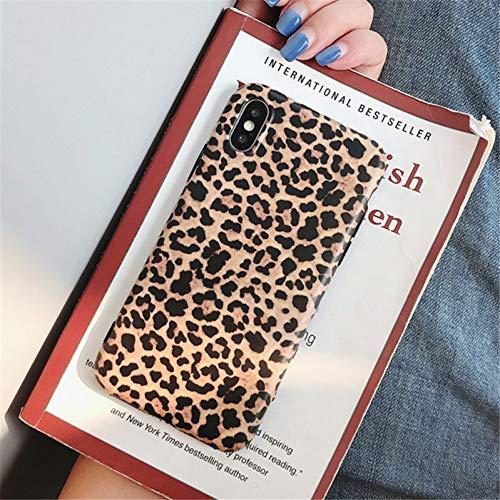 DREAMBAB Handyhülle Mode Leopardenmuster Telefon Case Für iPhone XS Max Xr X Case Für iPhone 6 6S 8 7 Plus Rückseitige Abdeckung Luxus Weiche Fällen, Beige, Für iPhone Xr Beige Fall