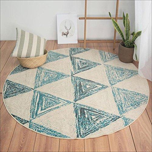 LILY Nordischer Art-geometrischer Dreieck-Muster-Teppich, Polyester-Kreis-Computer-Stuhl-Wolldecke, Wohnzimmer-Studien-Stuhl-Stuhl-Schlafzimmer-Matten ( Größe : 160*160CM ) Outdoor-läufer Teppich 2 X 14