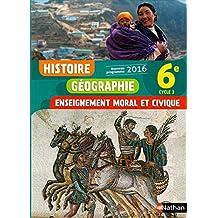 Histoire-Géographie-EMC 6e - Nouveau programme 2016
