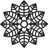 Marabu - Plantilla para estarcido (15 x 15 cm), diseño de flores y hojas