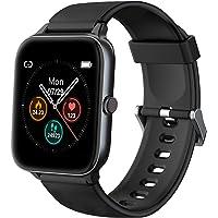 IOWODO Smartwatch, 1.5 Zoll Armbanduhr mit Schlafmonitor Schrittzähler Musiksteuerung, 5ATM Wasserdicht Sportuhr Fitness…