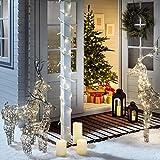 3er Set LED Rentier Figuren Weihnachtsbeleuchtung Außen