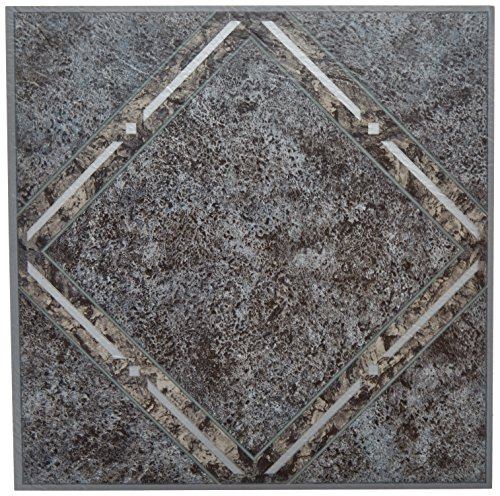 Achim Home Furnishings FTVGM33420 Nexus Self Adhesive Vinyl Floor Tiles, Metallic Marble Diamond, 12 x 12-inch, 20-Pack