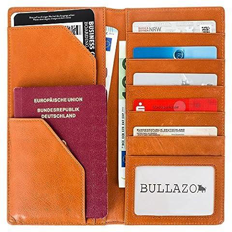 BULLAZO PLANO Reisepasshülle MIT RFID NFC SCHUTZ BLOCKER | Ausweishülle