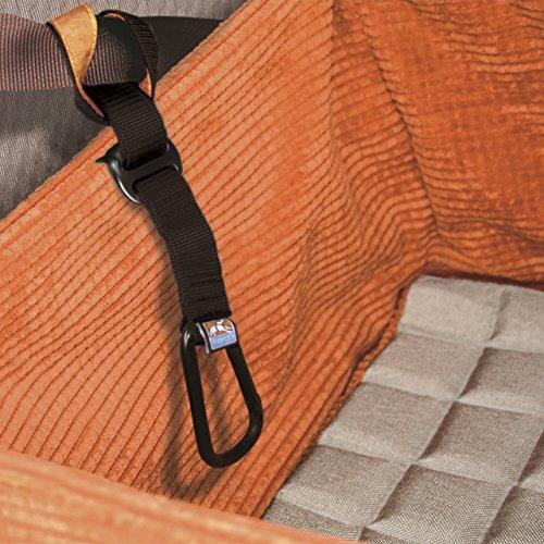 Kurgo 00044 Skybox Boostersitz für kleine Hunde, schwarz/orange