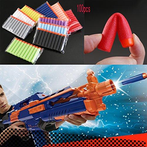 ULTNICE 100pcs EVA Safe relleno suave bala dardos de espuma para pistola de juguete de Nerf N strike Elite serie Blasters Kid juegan