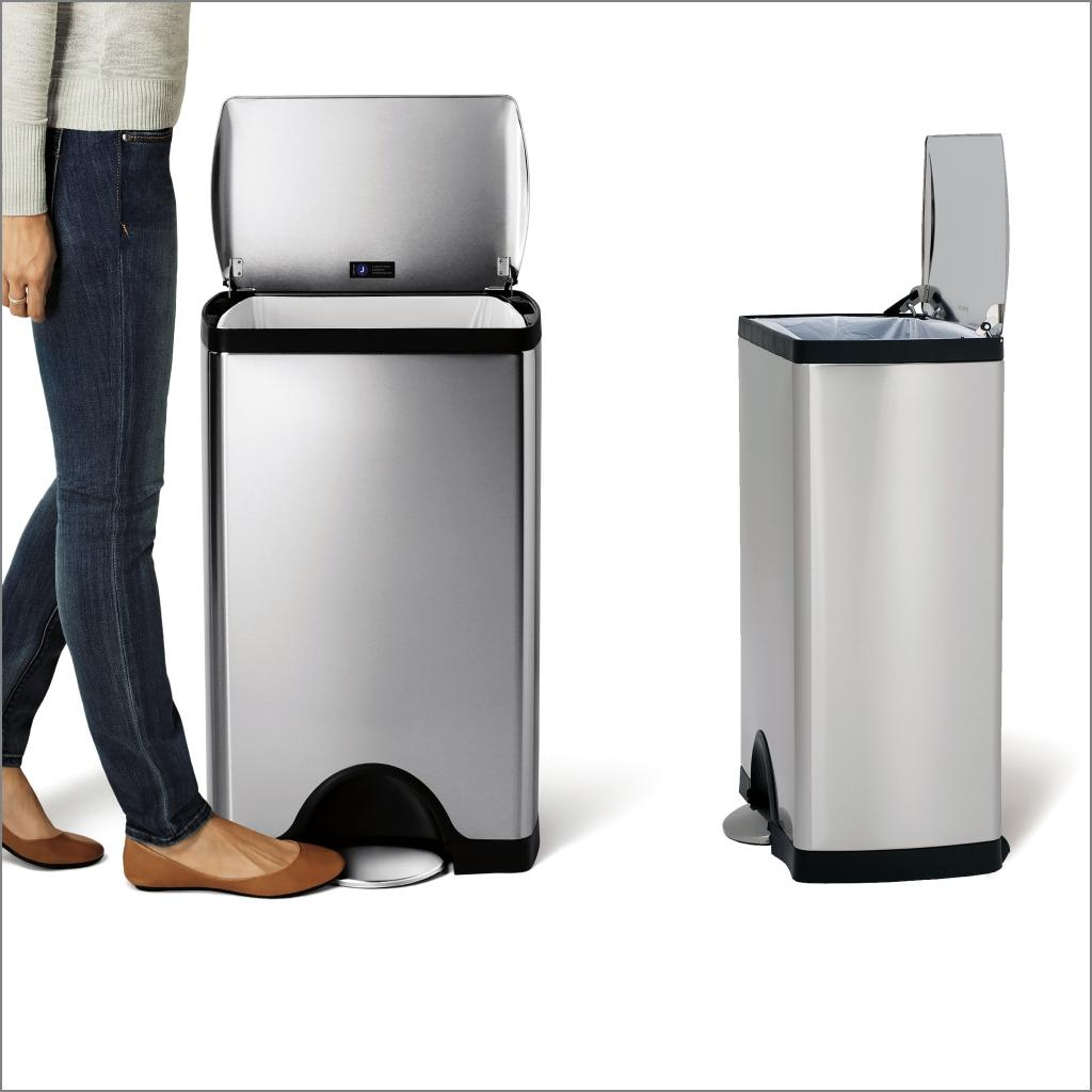 View larger. simplehuman Rectangular Pedal Bin  38 L   Fingerprint Proof