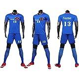 Kids Football kit for Boys Girls Men Women Personalised Football Shirt Short with Name Number Team Logo
