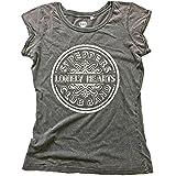 The Beatles Rock Band Premium Damen Vintage T-Shirt - SGT Peppers Logo (S-L) (S)