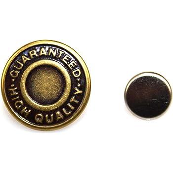 Quality Brass Hemline Jeans Buttons Brass Colour 6 Sets Approx 16mm Diameter
