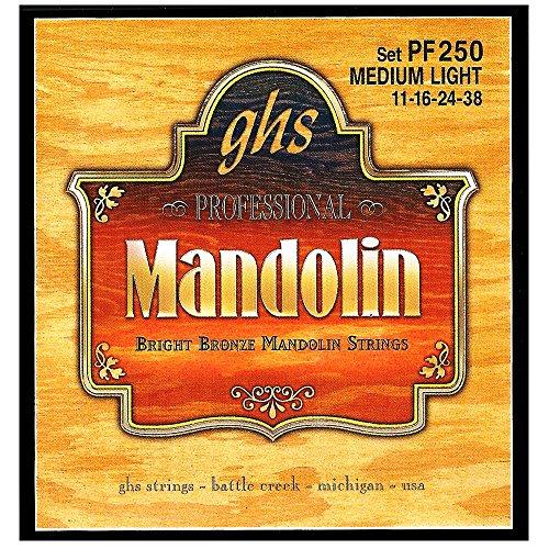 ghs PF 250 MEDIUM L Mandoline Bright Bronze Loop End String Loop End-e-saite