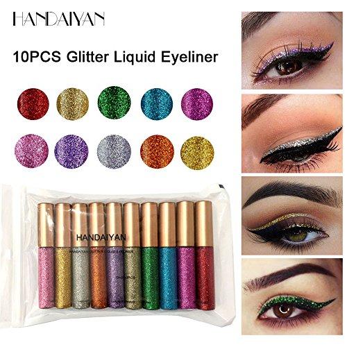 CLOOM 12 Farben Langlebige Lidschatten Eyeliner Make-Up Schönheit wasserdicht 12 Farbe Lidschatten...
