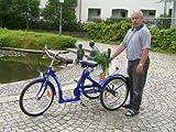 LanzTec Therapie- und Seniorendreirad Blau 7 Gang Shimano Nabenschaltung mit Rücktrittbremse als Bausatz zum günstigen Versand