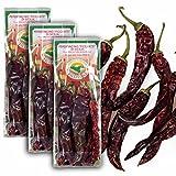 Original Italienische Peperoni Bioqualität aus Sizilien - Hot Chili - Peperoncino piccante ganze Schoten - getrocknet 3x 25G (ideal auch für Präsentkörbe)