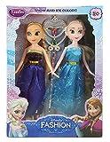 Tickles Blue Anna Elsa Frozen Sister Dol...