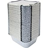 #6: Silver Foil Container 450 ML With Lid (Pack of 100)