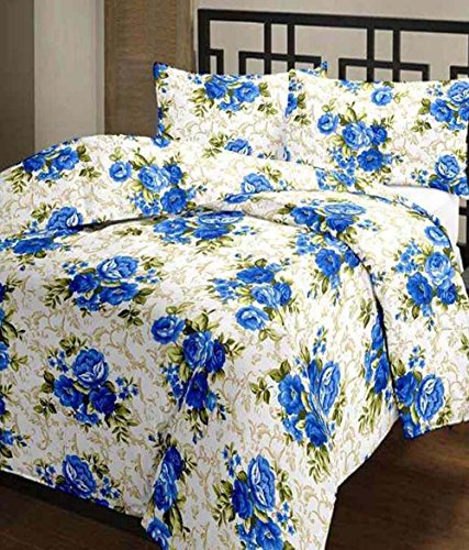Frabjous Floral Polycotton Double Size Dohar (Multi) for Home