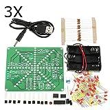 LaDicha 3Pcs Diy Led Lampe Kit Led-Blitz Set Elektronische Produktion Kit