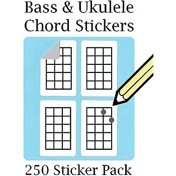 Bass Ukulele And Mandolin Chord Tablature Fingering Stamp