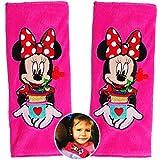 Unbekannt 2 TLG. Set _ Gurtschoner / Gurtpolster -  Disney Minnie Mouse  - Gurtschutz - für Sicherheitsgurt - Gurt Polster - für Auto / Kindersitz / Autoschale - Scho..