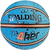Spalding Ball NBA 4HER Splatter 83-308Z, himmelblau/orange, 6, 3001596011616