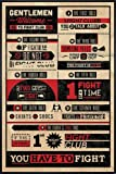 Fight Club Poster Rules (93x62 cm) gerahmt in: Rahmen schwarz