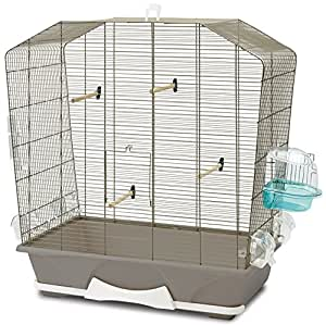 savic camille 50 cage pour petit oiseau taupe 72 x 39 x 74. Black Bedroom Furniture Sets. Home Design Ideas