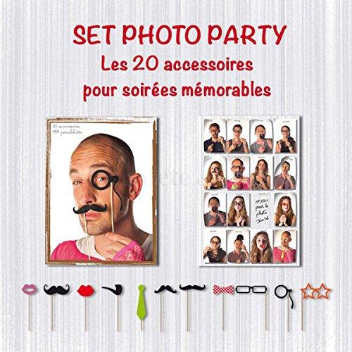 Generique - Kit photobooth Party 20 pièces