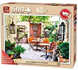 "KING 5532 ""Cafe Terrace in Europe"" Senior Puzzle for Adult (500-Large Piece)"